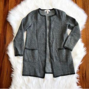 {Ellen Tracy} Grey Wool Knit Cardigan